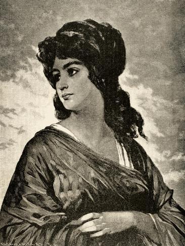 Lucretia (D.510 BC), Italy Lámina giclée