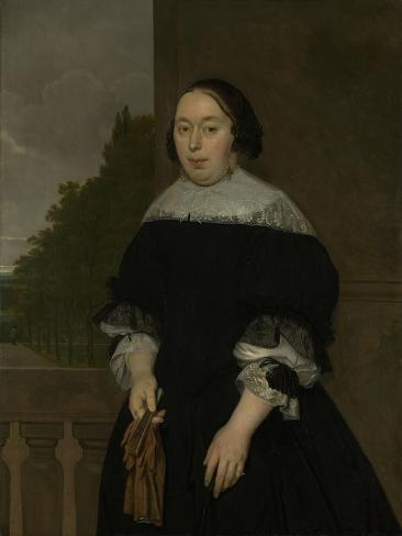 Portrait of Aletta Van Ravensberg, Wife of Jan Van Nes Art Print