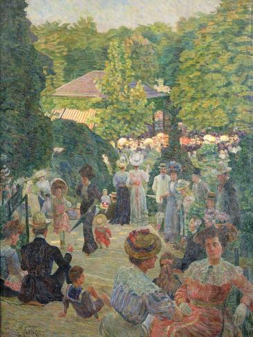 Le Parc De Monsouris, View Towards the Bandstand Giclee Print