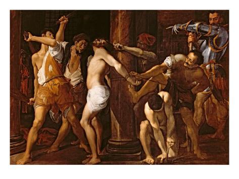 The Flagellation of Christ, 1586-87 Lámina giclée