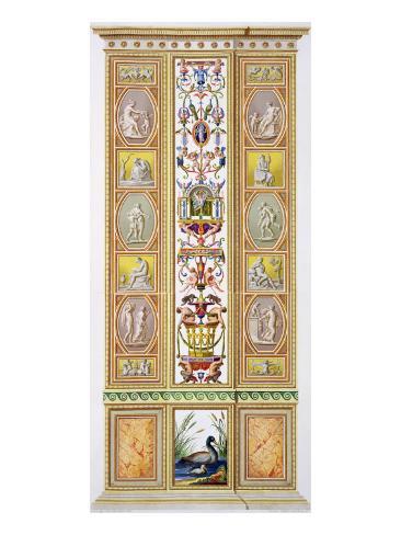 Raphael Loggia at the Vatican, 'Delle Loggie Di Rafaele Nel Vaticano', Engraved Giovanni Volpato Lámina giclée
