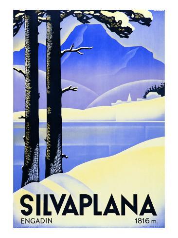 Advertising Poster Silvaplana Gicléetryck