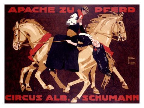 Circus Schumann, Apache Zu Pferd Giclee Print