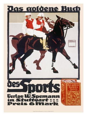 Golden Book of Sports, Horse Polo Giclee Print