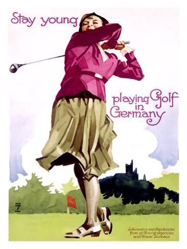 Golf in Germany Giclee Print