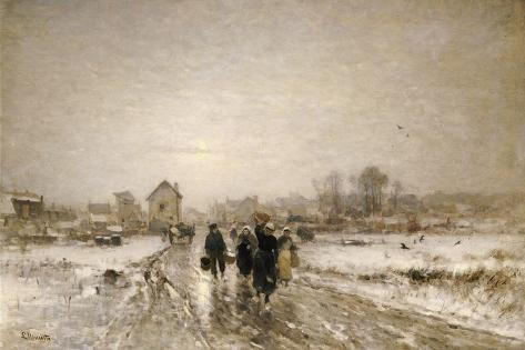 Returning from Market Giclee Print