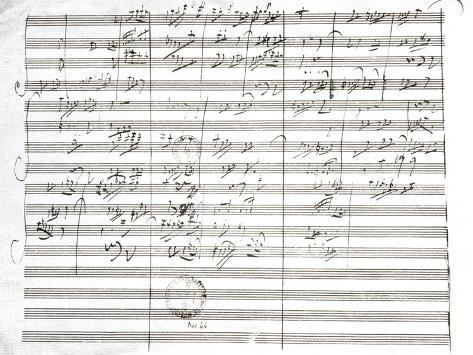 Score for the 3rd Movement of the 5th Symphony Giclee Print
