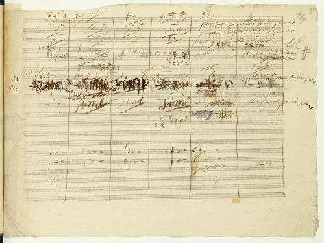 'Wellington's Victory, Op. 91', Page 36, Composed by Ludwig Van Beethoven (1770-1827) Giclee Print