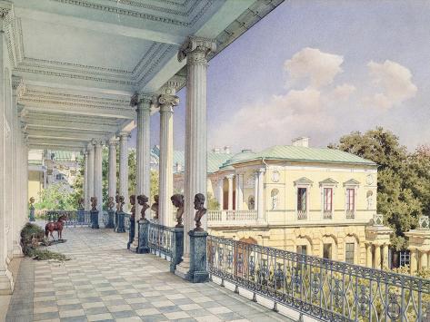 The Cameron Gallery in Tsarskoye Selo, 1859 Giclee Print