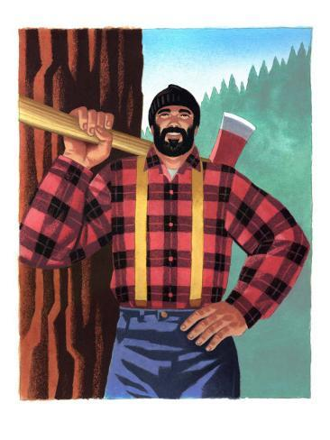 lumberjack with axe arte na allposters com br
