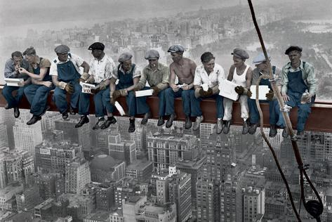 Lunch on a Skyscraper - Colour Poster