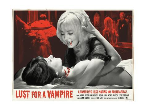 Lust for a Vampire 1971 (Red) Stampa artistica