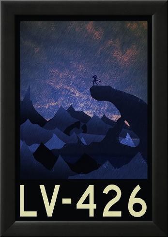 LV-426 Retro Travel Poster Lamina Framed Poster