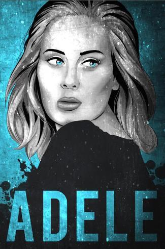 Adele Illustration Prints by Lynx Art Collection ...