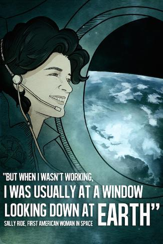 Astronaut Sally Ride Quote Art Print
