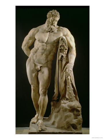 The Farnese Hercules, Roman Copy of Greek Original Giclee Print