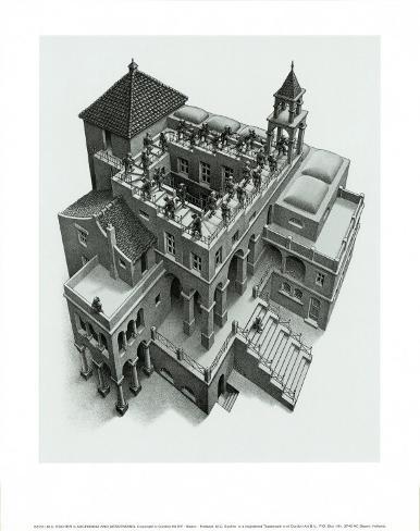 Ascending and Descending Art Print