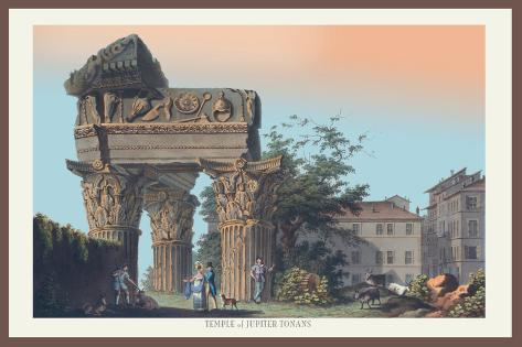 Temple of Jupiter Tonans Wall Decal