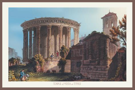 Temple of Vesta at Tivoli Wall Decal