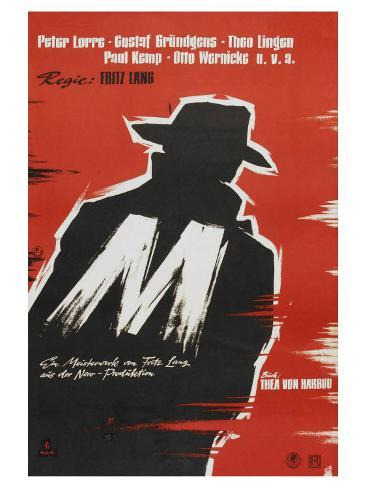 M, German Movie Poster, 1931 アートプリント