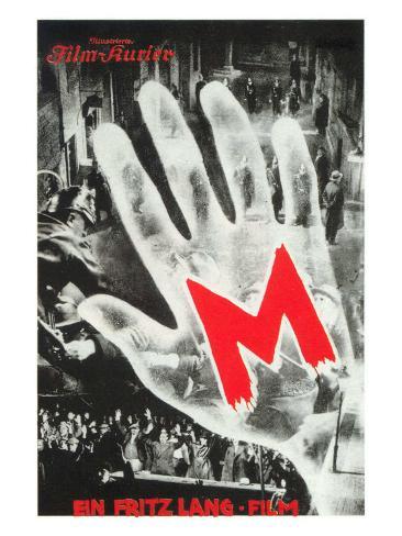 M, German Movie Poster, 1931 Art Print