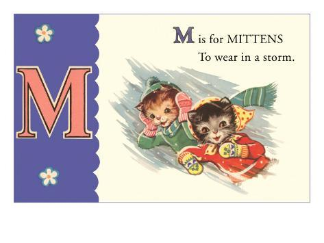 M is for Mittens Konstprint