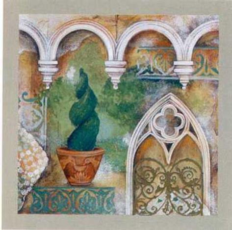 An Italian Garden IV Art Print