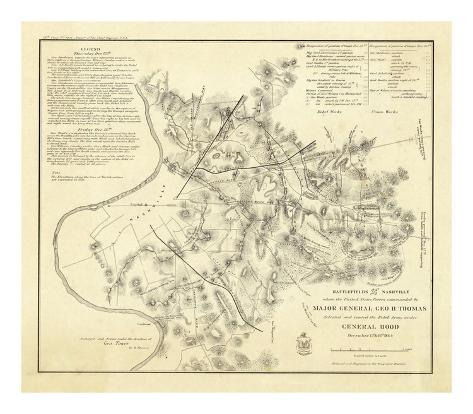 Civil Wat Battlefields In Front of Nashville, c.1866 Art Print