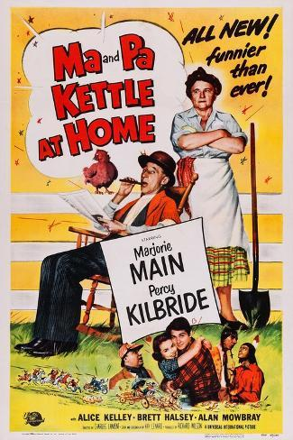 Ma and Pa Kettle at Home Art Print