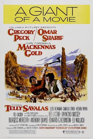 MACKENNA'S GOLD, US poster, Art Print