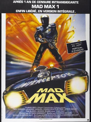 Mad Max, French poster, 1979. © Warner Bros./courtesy Everett Collection Art Print