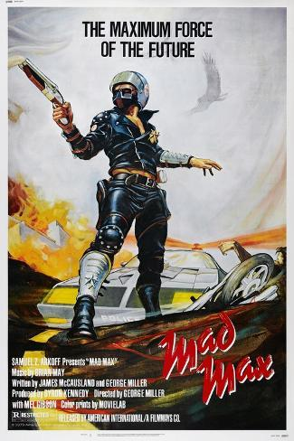 Mad Max, US poster, Mel Gibson, 1979. © American International/courtesy Everett Collection Art Print