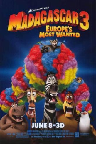 Madagascar 3: Europe's Most Wanted Movie Poster Double-sided poster
