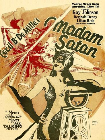 MADAM SATAN, Kay Johnson, window card, 1930. Art Print