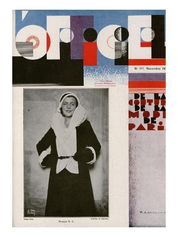 L'Officiel, November 1930 - Mme E.C… Art Print