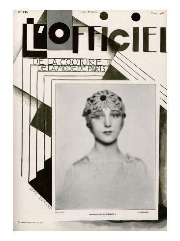 L'Officiel, March 1928 - Mlle de Rowera Art Print