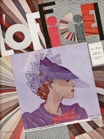 L'Officiel, May 1935 - Mme Agnès Art Print
