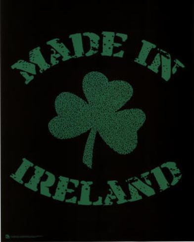 Made in Ireland (Lyrics to Danny Boy) Art Poster Print Poster