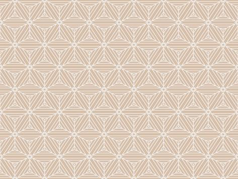 Beige Color Seamless Texture of Cubes. Optical Illusion. Vector Illustration. for Design, Wallpaper Art Print
