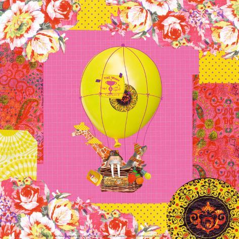Hot-Air Balloon Trip Art Print