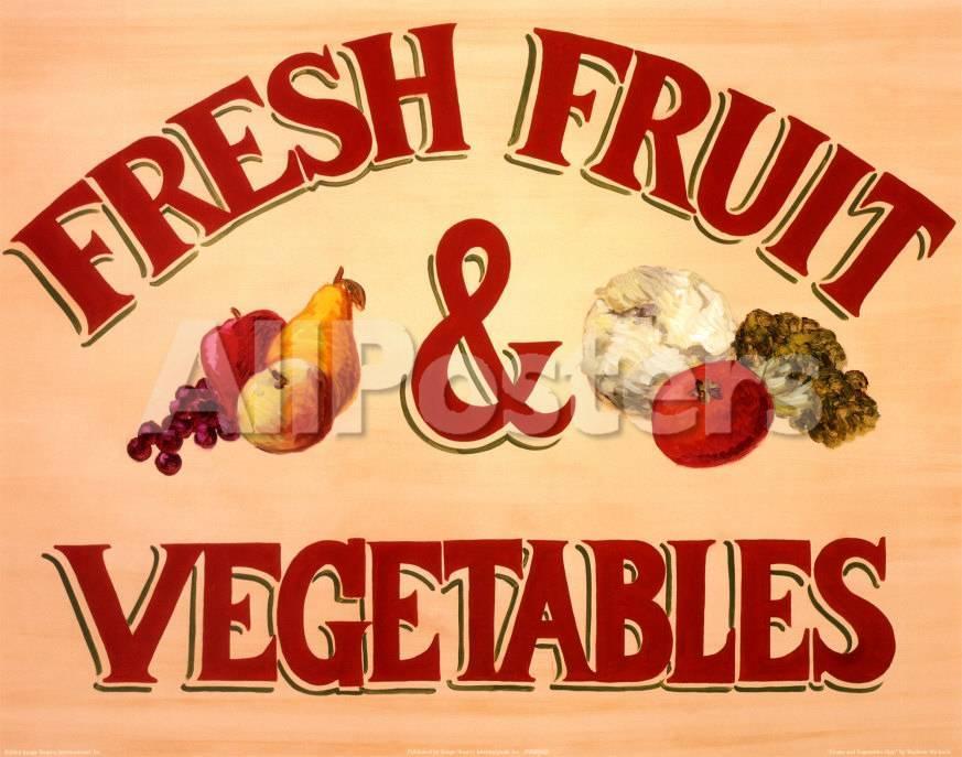 Cartel de frutas y verduras Arte por Madison Michaels en AllPosters.es