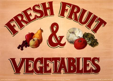 Fruits & Vegetables Sign Taidevedos