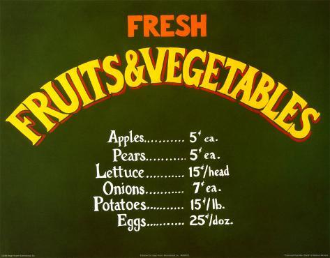Fruits & Vegetables Stand Art Print