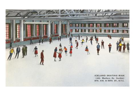 Madison Square Garden Skating Rink, New York City Art Print