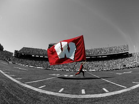 University of Wisconsin - W Flag in Camp Randall Photo