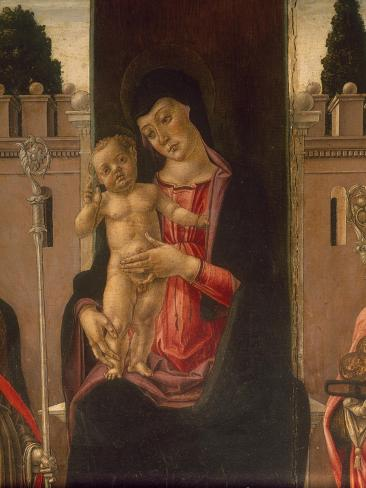 Madonna and Four Saints, 1476 Lámina giclée