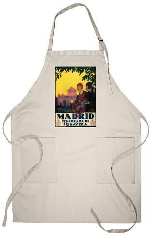 Madrid, Spain - Madrid in Springtime Travel Apron Apron