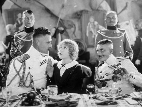 Mae Murray, John Gilbert and Roy D'Arcy: The Merry Widow, 1925 Lámina fotográfica