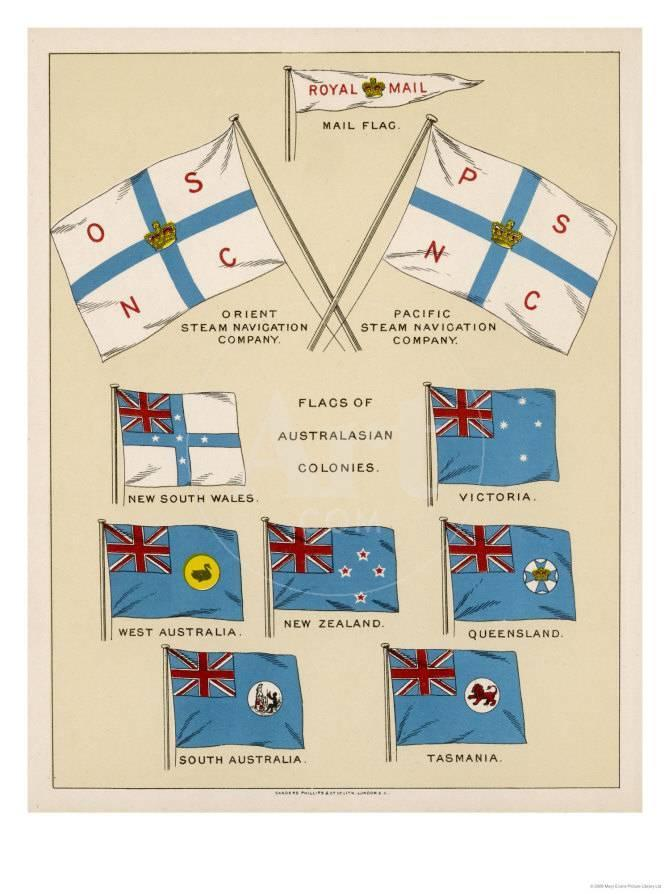 Mail Ship Flags and Others Giclee Print at AllPosters.com