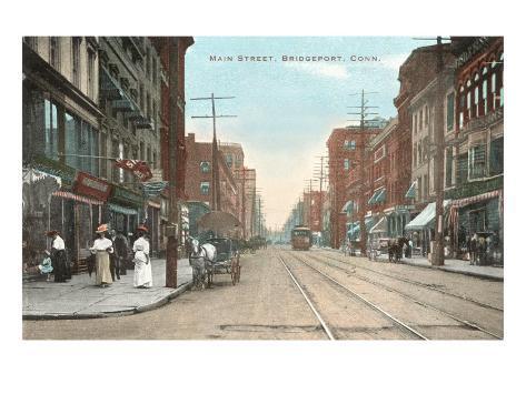 Main Street, Bridgeport, Connecticut Art Print
